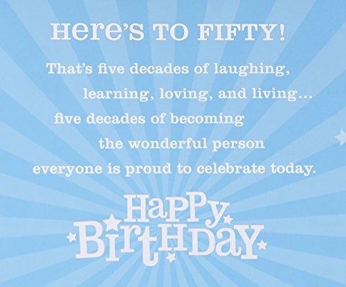 50th Birthday Greeting Card (Bling) Photo #6