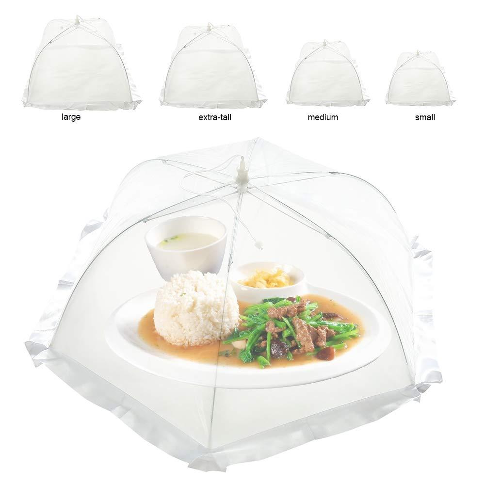 miuline 5 Stück Fliegenhaube Essen Regenschirm Lebensmittel Abdeckung Netzabdeckung Lebensmittel Zelt für Draußen & Zuhause