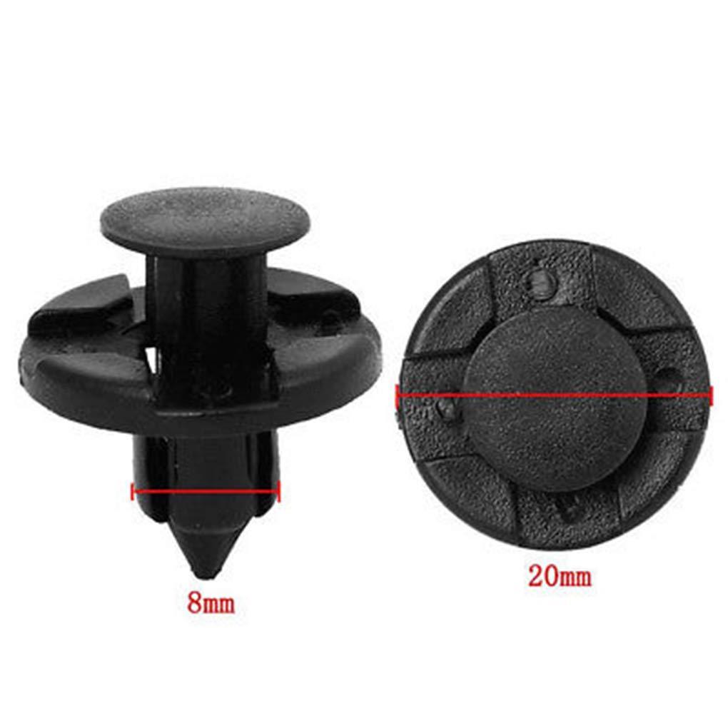 yanana 100PCS plastica di Alta qualit/¨/¤ 8,5 Millimetri Hole Fender Liner Fastener Rivet Spingere Clip per Nissan Accessori Auto