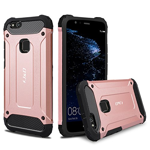 Huawei P10 Lite Case, J&D [ArmorBox] [Dual Layer] Hybrid Shock ...