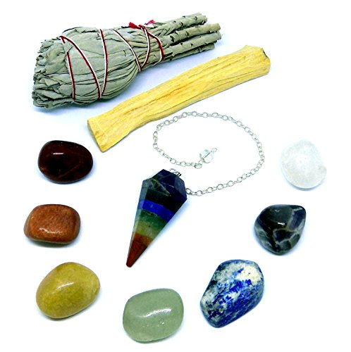 Chakra Pendulum Crystals Smudging Instructions product image