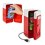 usb can fridge - NAMEO USB Fridge, Portable Beverage Drink Cans Cooler/Warmer Refrigerator for Laptop/PC (Cuboid-Shaped)