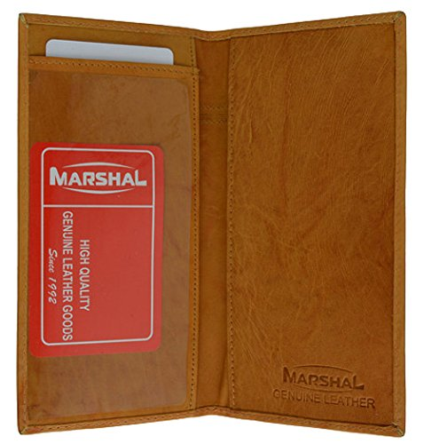 Genuine Leather Simple Check Book Holder style - mw156cf (Tan)