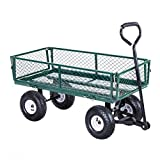 Giantex Cart Garden Utility Cart w/Padded Handle Removable Sides Heavy-Duty Steel Garden Wagon Cart