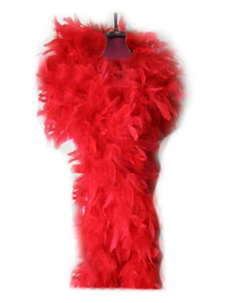 100g Red Feather Chandelle Boa 6 feet long for Party Halloween, costume PARTYGAGA