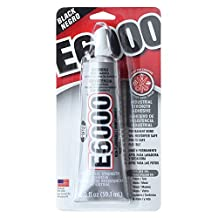 E6000 Adhesive, Industrial Strength Glue, 2 Ounce Tube, Black