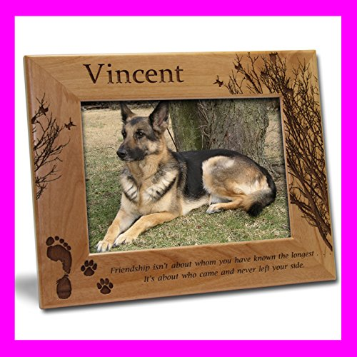 Personalized Custom Engraved 4x6 Pet Dog Fiendship Picture Frame