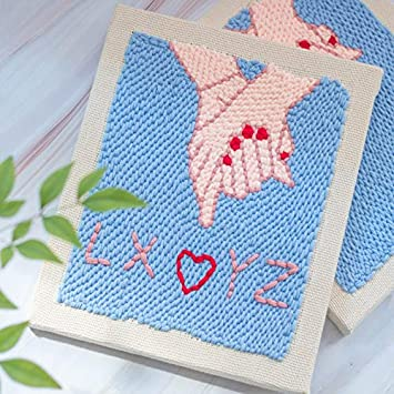 Punch Needle Embroidery Kits,Adjustable Rug Yarn Punch Needle,Large Embroidery Pen with Punch Needle Cloth/&Tools Dinosaur