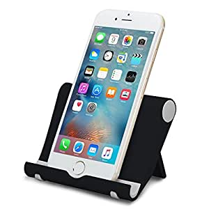 EFFE Phone Stander Hoder Soporte de Escritorio Ajustable para iPhone X/8/8 plus/7/7plus, Tabletas, Compatible con iPhone, iPad, Kindle,Samsung Galaxy S9 S8 y la mayoría de los teléfonos Inteligentes
