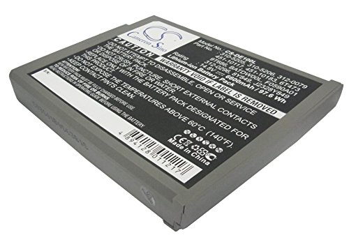6600mAh Battery for DELL Inspiron 1100, Inspiron 1150, Inspiron 5100, Inspiron 5150, Inspiron 5160, Latitude 100L, Latitude 1150
