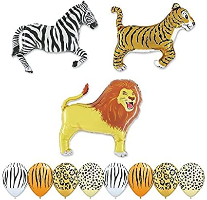 Amazon.com: Globo gigante 11 PC Safari Animal Fiesta de ...