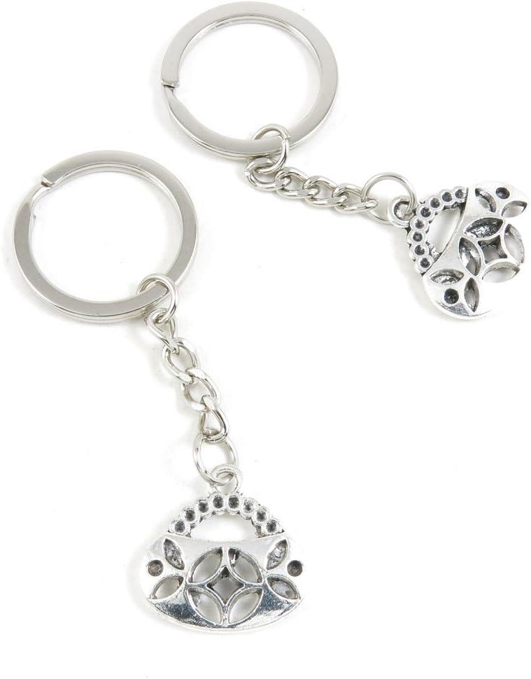 50 Pieces Keychain Keyring Door Car Key Chain Ring Tag Charms Bulk Supply Jewelry Making Clasp Findings N1ZO5X Handbag Purse Shoulder Bag
