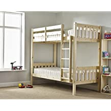 Adult Bunkbed 3ft single shaker solid pine bunk bed - Can be used by adults - VERY STRONG by Strictly Beds Heavy Duty Cypress Bunkbed