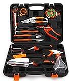 Garden Tools Set 12-Pieces Home Precision Tool,Ergonomic Design Soft Touch Handles