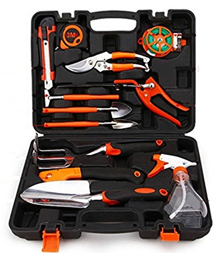 Garden Tools Set 12-Pieces Home Precision Tool,Ergonomic Design Soft Touch Handles