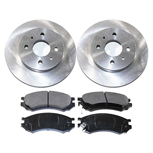 Prime Choice Auto Parts RSCD6583-6583-507-2-4 4 Front Ceramic Brake Pads and 2 Front Brake Rotors ()