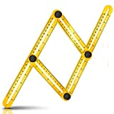 Angle Template Tool - Drillpro Angle Ruler Multi-Angle Measuring Ruler for Handymen, Builders, Craftsmen and DIY-ers