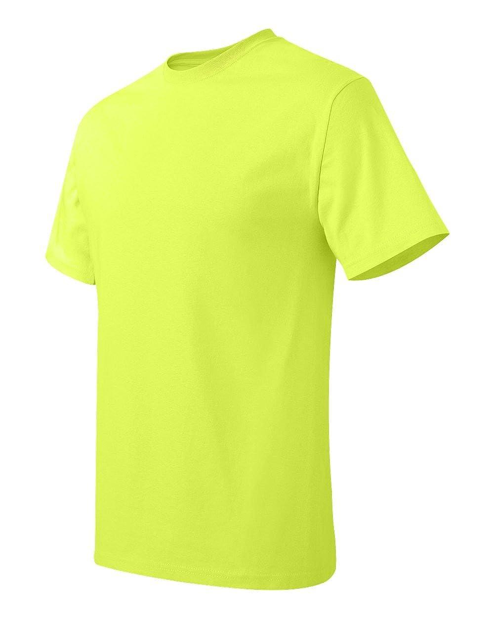 Tagless T-Shirt Hanes mens 6.1 oz -SAFETY GREEN-XL 5250T