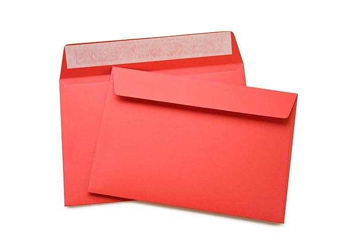 504A 50 hochwertige Briefumschl/äge C6 mm 120 g//m/² ohne Fenster haftklebend gelb
