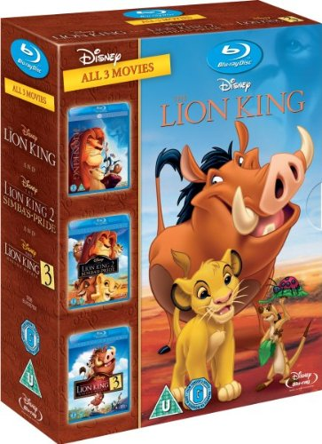 The Lion King Trilogy - Triple Pack [Blu-ray][Region Free]