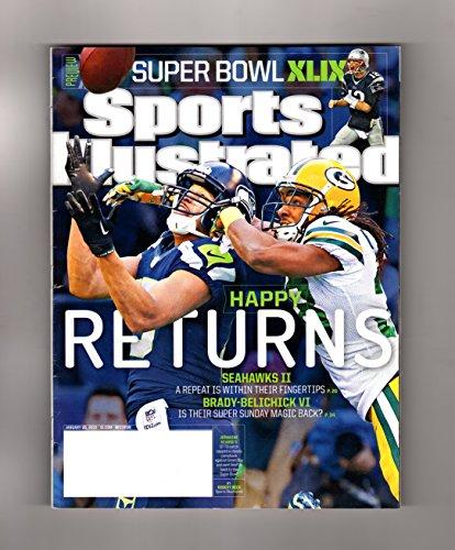 Sports Illustrated, January 26, 2015. Seahawks Over Packers (Cover), Patriots Over Colts, in SuperBowl Semis; Buddy Hield; Dustin Johnson; Soviet-Era Red Army Hockey; Tony Blake; Joe Paterno