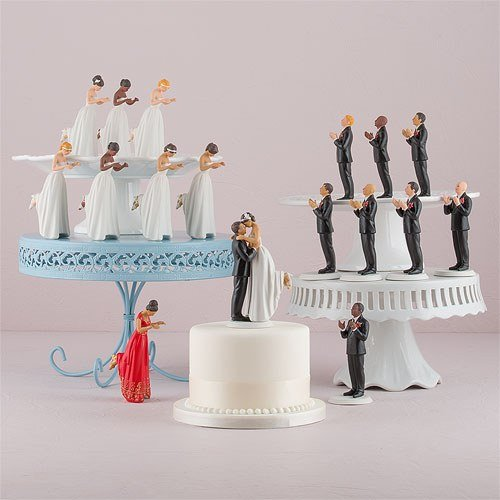 Weddingstar True Romance Hispanic Bride Cake Topper, Red (Romance Cake Topper)
