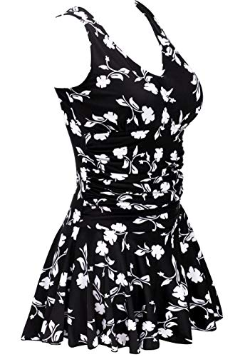 AONTUS Women's Plus-Size Polka Dot Shaping Body One Piece Swim Dresses Swimsuits...