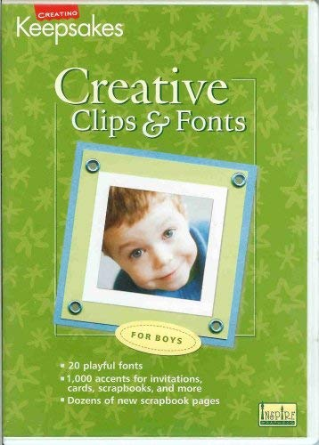 Creative Clips & Fonts for Boys by Creating Keepsakes