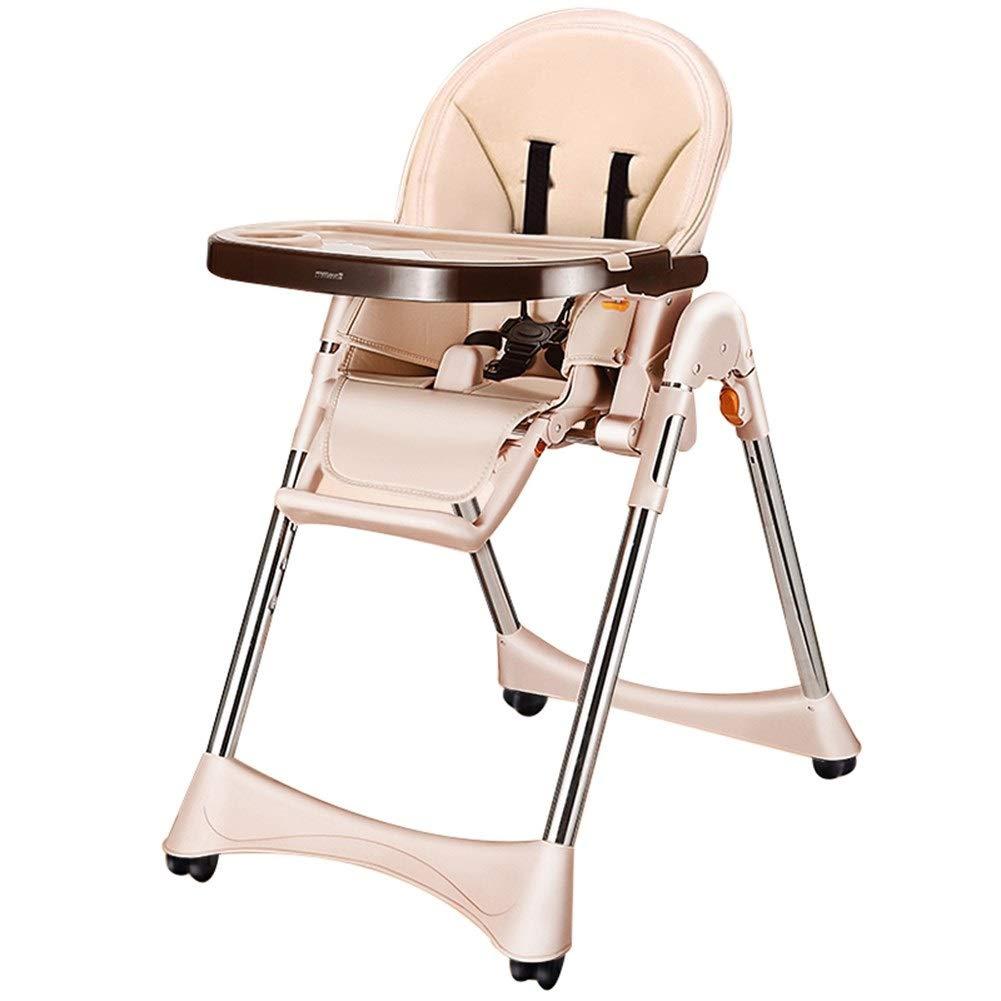 子供用ハイチェア幼児用チェア、多機能ポータブル折りたたみ式座ることができます座ることができます子供用チェア適切な、06歳の子供用 (Color : Beige) B07TB4YX7H Beige