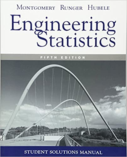 montgomery engineering statistics 5th instructor manual