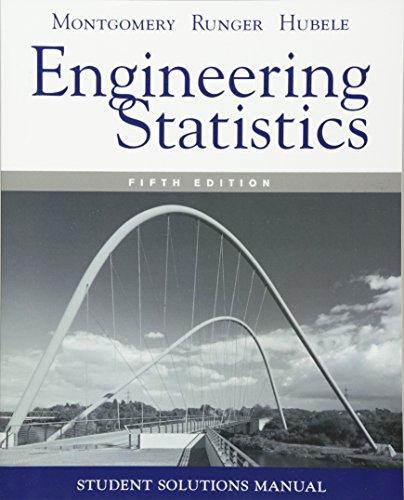 Student Solutions Manual Engineering Statistics, 5e