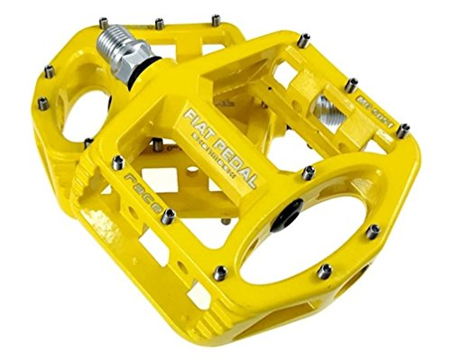 Sms Eveter Magnesium Lightweight Mountain Bike Pedal Platform Cycling Alloy Flat Pedals 5051 (Yellow)