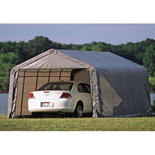 ShelterLogic 74342 Green 12'x24'x10′ Round Style Shelter