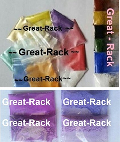 Lot of 19 3 Grams Each 190g TOTAL MICA MATTE IN BAGGIES Soap Making Pigment Cosmetic Sparkle Ultramarine Shimmer Powder