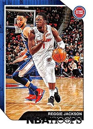 promo code c6ae4 79478 2018-19 Panini Hoops  114 Reggie Jackson Detroit Pistons NBA Basketball  Trading Card