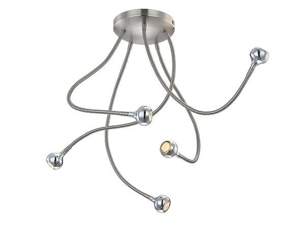 LED Deckenstrahler 5 Flammig Deckenlampe Spots Decken Spot Flexibel Strahler Flur Lampe Deckenleuchte Deckenlicht
