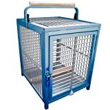 KINGS CAGES ATT 1214 ALUMINUM PARROT Bird Cage pet travel carriers cages toy toys (BLUE)
