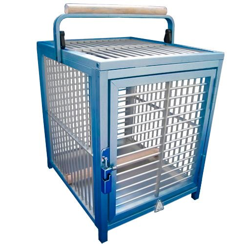 King's Cages ATT 1214 Aluminum Parrot Bird Cage pet Travel Carriers Cages Toy Toys (Blue) by King's Cages