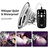 Female Vagina Sucking Vibra-tor Silicone Waterproof Rechargeable Vibration Modes Pussy Pump for Clitoris Nipple Anal - Licking Stimulator - G-spot Massager Oral Sex Toys for Woman (Shine Black)