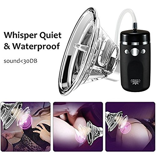Female Vagina Sucking Vibra-tor Silicone Waterproof Rechargeable Vibration Modes Pussy Pump for Clitoris Nipple Anal, Licking Stimulator, G-spot Massager Oral Sex Toys for Woman (Shine Black)