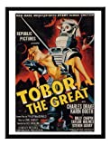 Iposters Tobor The Great Sci Fi Movie Print 1950s Magnetic Memo Board Black Framed - 41 X 31 Cms (approx 16 X 12 Inches)