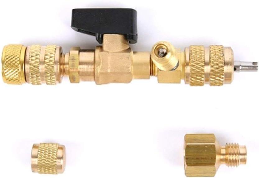 QWSX 100/% Neue Materialien 1//4 5//16 Ventil-Kern-Remover Installer//Ersetzen High Low Side Schrader Ventil-Reparatur-Werkzeuge R22 R410A R404A R407C Reparaturwerkzeuge f/ür Klimaanlagen