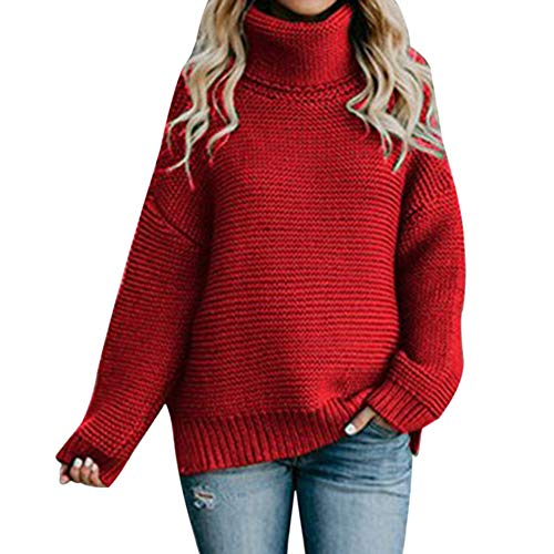 Hiver laamei Femme Pull Col Roul Automne pwnOtAq7