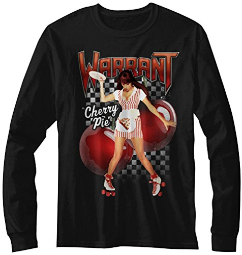 (DressCode Warrant - Mens Cherry Pie Long Sleeve T-Shirt, Size: Small, Color Black)