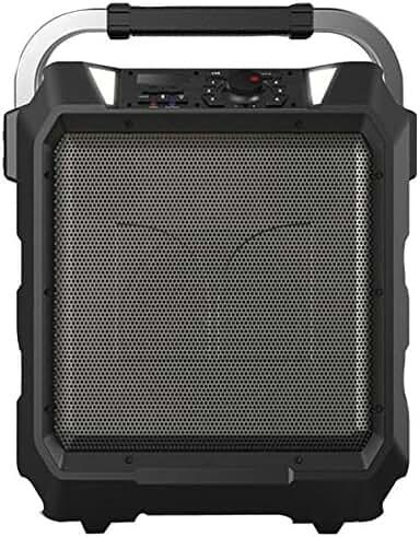 Monster Rockin' Roller   80 Watts, 80 Hour High Performance Water Resistant Outdoor/Indoor Wireless Bluetooth Speaker, Night View LED (Black)