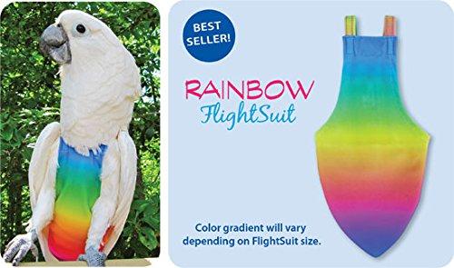 Avian Jr. Small FlightSuit (Bird Diaper) w/Lanyard Plus Flightliners (Rainbow) ()