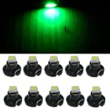 DZT1968 10pcs T3 LED Bulb Dashboard Instrument Cluster Light Car Panel Gauge (Green)