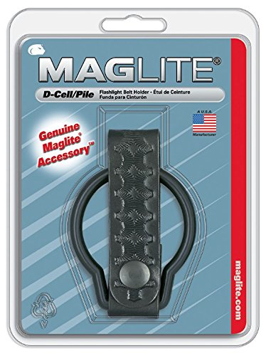 Maglite Black Plain Leather Belt Holder for D Cell Flashlights ()