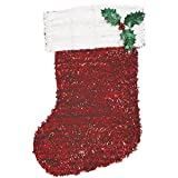 Red Tinsel Christmas Stocking (Pack of 6)