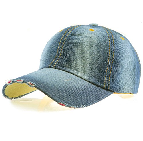 (Black Eagles 100% Cotton and Denim Washed Classic Dad Hat Plain Dyed Low Profile Baseball Cap(Ripped Jean)